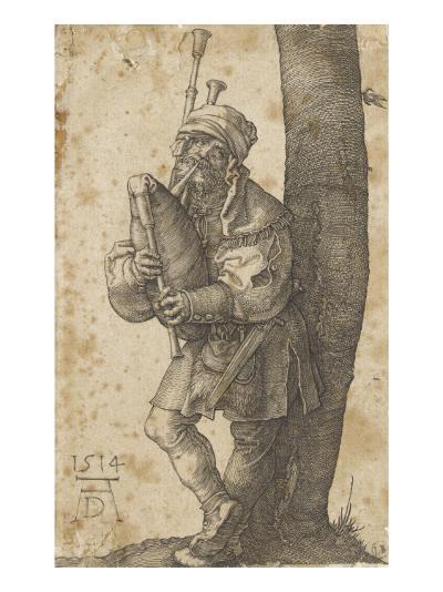 Le joueur de cornemuse-Albrecht D?rer-Giclee Print