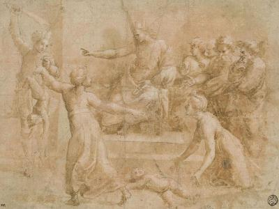 Le jugement de Salomon-Raffaello Sanzio-Giclee Print