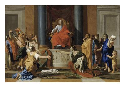 Le jugement de Salomon-Nicolas Poussin-Giclee Print