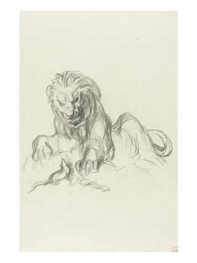 le lion et le rat-Gustave Moreau-Giclee Print