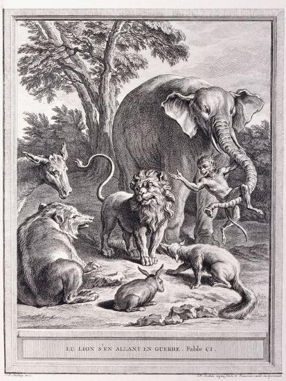 Le Lion S'En Allant En Guerre, C.1755-1759-Jean-Baptiste Oudry-Giclee Print