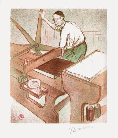 Le lithographe-Henri de Toulouse-Lautrec-Collectable Print