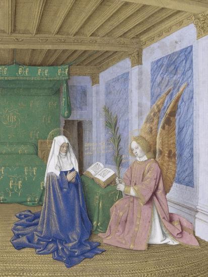 Le Livre D Heures D Etienne Chevalier Les Heures De La Vierge La Seconde Annonciation Giclee Print By Jean Fouquet Art Com