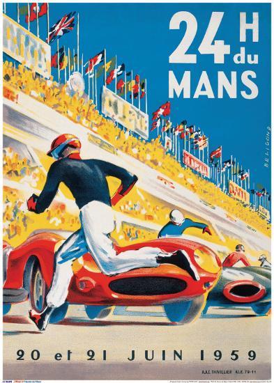 Le Mans 20 et 21 Juin 1959-Beligond-Art Print