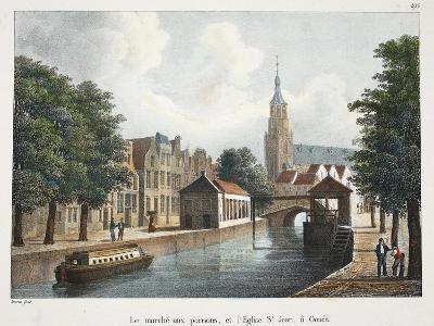 Le Marché Aux Poissons, Et L'Eglise St Jean À Gouda, C.1895--Giclee Print