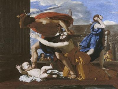 Le massacre des innocents-Nicolas Poussin-Giclee Print
