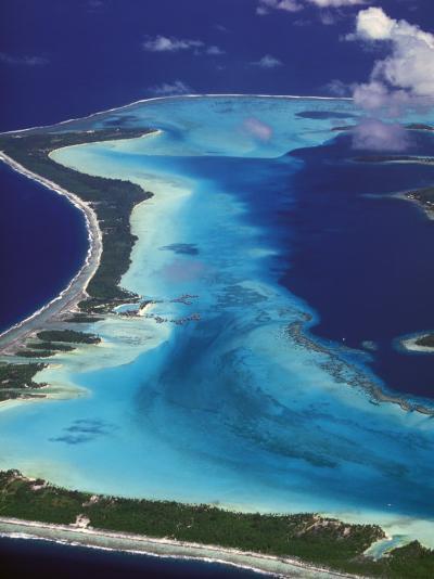 Le Meridien Hotel Bungalows, , Bora Bora, French Polynesia-Walter Bibikow-Photographic Print
