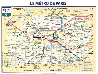 Le Metro de Paris--Art Print