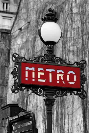 Le Metro Rouge-Bill Philip-Giclee Print