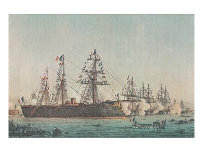 Le Ministre de la Marine Passe en Revue l'Escadre d'Évolutions, 1864--Art Print