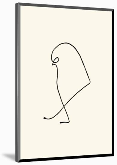 Le Moineau, c.1907-Pablo Picasso-Mounted Serigraph