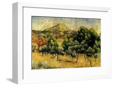 Le Mont Sainte Victoire-Pierre-Auguste Renoir-Framed Art Print