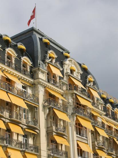 Le Montreux Place Hotel on Lake Geneva, Montreux, Swiss Riviera, Vaud, Switzerland-Walter Bibikow-Photographic Print