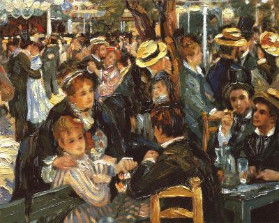 Le Moulin de la Galette-Pierre-Auguste Renoir-Framed Textured Art