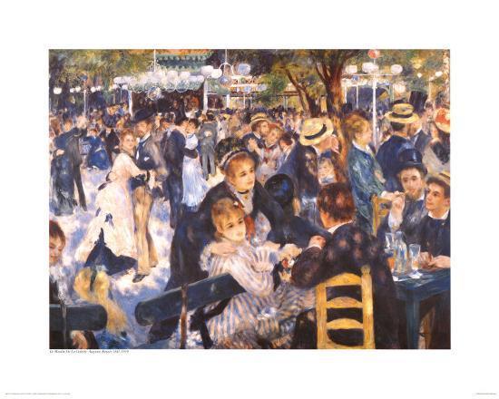Le Moulin de la Gallette-Pierre-Auguste Renoir-Art Print