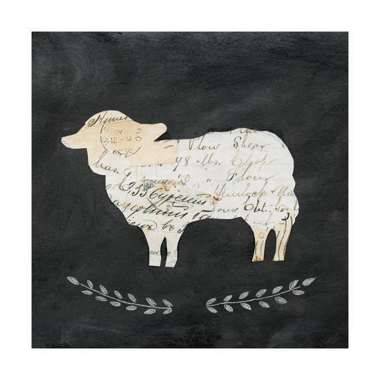 Le Mouton Cameo Sq no Words-Courtney Prahl-Art Print