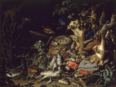 Le Nid de pinsons-Abraham Mignon-Giclee Print