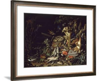 Le Nid de pinsons-Abraham Mignon-Framed Giclee Print