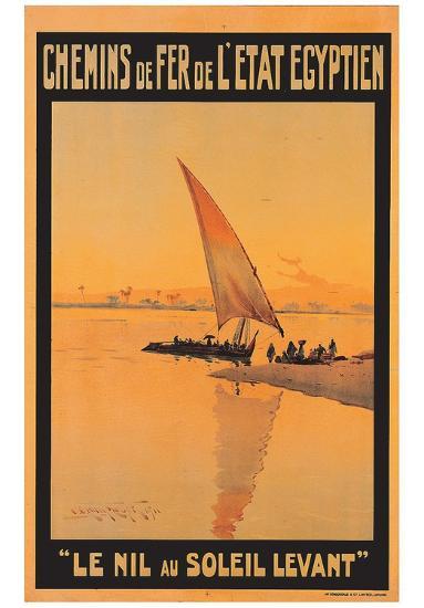 Le Nil Au Soleil Levant-M^ Tamplough-Art Print