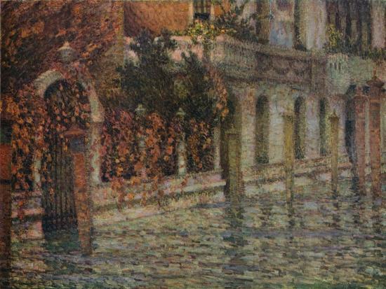 Le Palais Blanc, Automne, Venise', c1906, (1918)-Henri Eugene Le Sidaner-Giclee Print