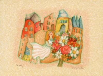 Le panier de pommes-Francoise Deberdt-Collectable Print