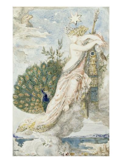 Le Paon se plaignant à Junon. Etude pour les Fables de La Fontaine-Gustave Moreau-Giclee Print