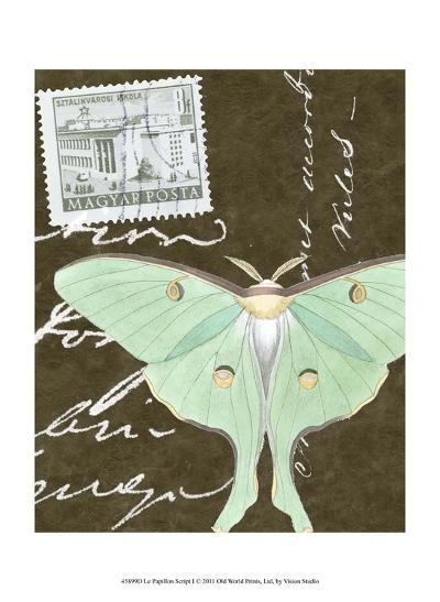 Le Papillon Script I--Art Print