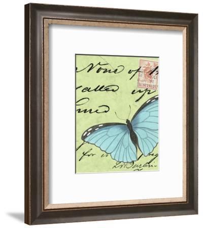 Le Papillon Script III--Framed Art Print
