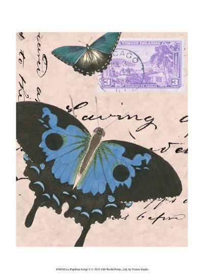 Le Papillon Script V--Art Print