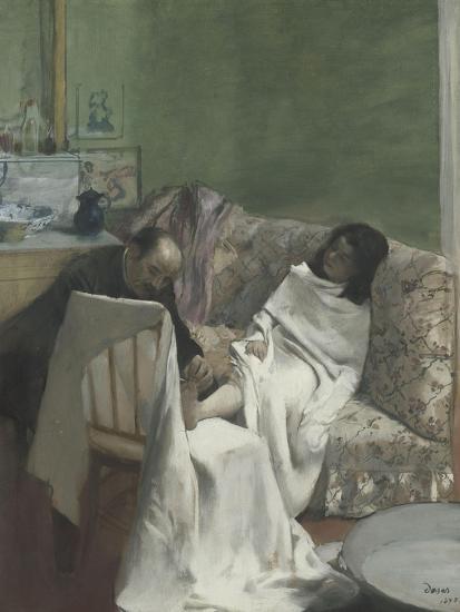 Le pédicure-Edgar Degas-Giclee Print