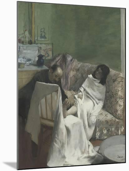 Le pédicure-Edgar Degas-Mounted Giclee Print