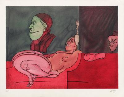 Le Peintre Aux Lunettes-Valerio Adami-Limited Edition