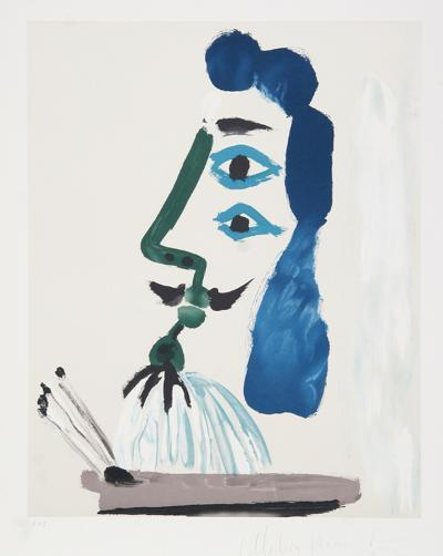 Le Peintre et sa Palette, J-146-Pablo Picasso-Premium Edition