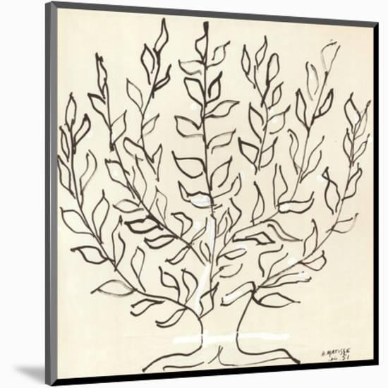 Le Platane-Henri Matisse-Mounted Art Print