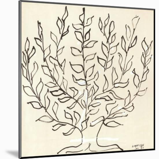 Le Platane-Henri Matisse-Mounted Print