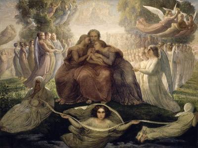 Le Poème de l'âme. Génération divine-Louis Janmot-Giclee Print
