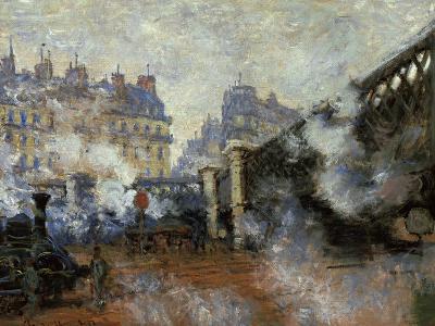 Le Pont De L'Europe, Gare Saint-Lazare, 1877-Claude Monet-Giclee Print