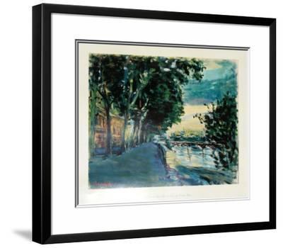 Le Pont des Arts au Quai de Louvre-Dimitrie Berea-Framed Art Print
