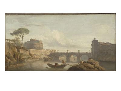 Le Pont et le château Saint-Ange à Rome-Claude Joseph Vernet-Giclee Print