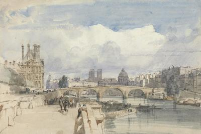 Le Pont Royal, Paris, C.1828-Thomas Shotter Boys-Giclee Print
