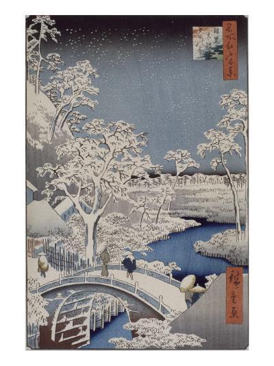 Le pont Taiko et la colline Yûshi à Meguro-Ando Hiroshige-Giclee Print