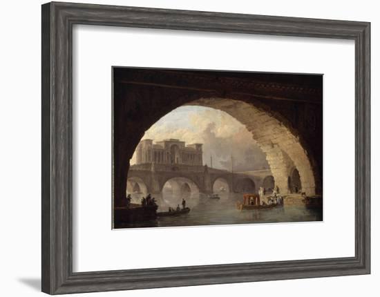 Le pont triomphal-Hubert Robert-Framed Giclee Print