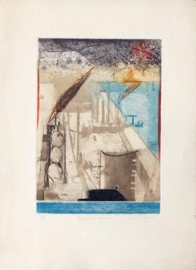 Le Port D'Anvers-Ren? Carcan-Collectable Print
