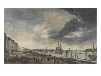 Le port de Bordeaux-Claude Joseph Vernet-Giclee Print