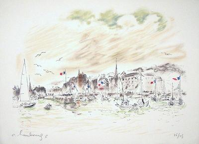 Le Port De Honfleur-Andr? Hambourg-Limited Edition