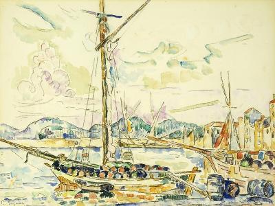 Le Port de Saint-Tropez-Paul Signac-Giclee Print