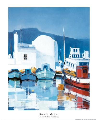 Le Port Des Cyclades-Silvio Magni-Art Print