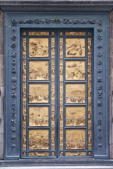 Le Porte Del Paradiso, East Side of Baptistery, by Lorenzo Ghiberti-Guido Cozzi-Photographic Print