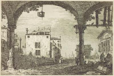 Le Portique a La Lanterne, C.1744-Canaletto-Giclee Print