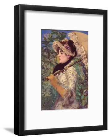 Le Printemps-Edouard Manet-Framed Art Print